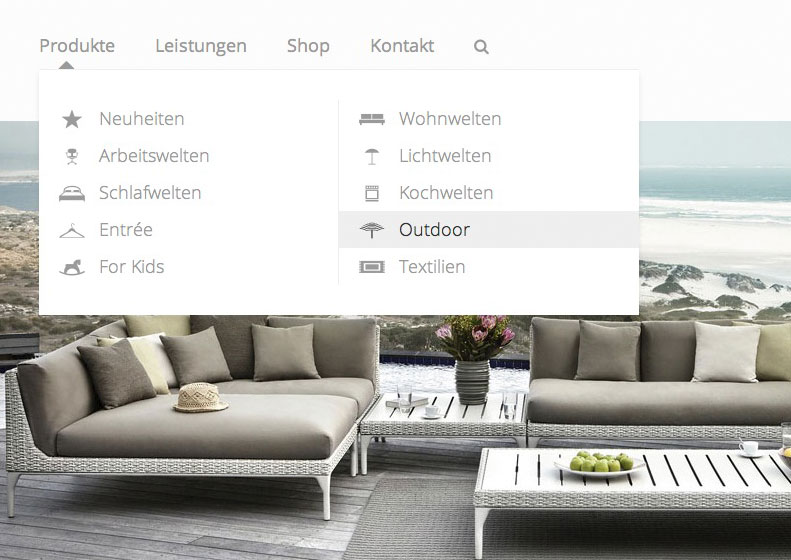 Menue Fretz – Neue Website